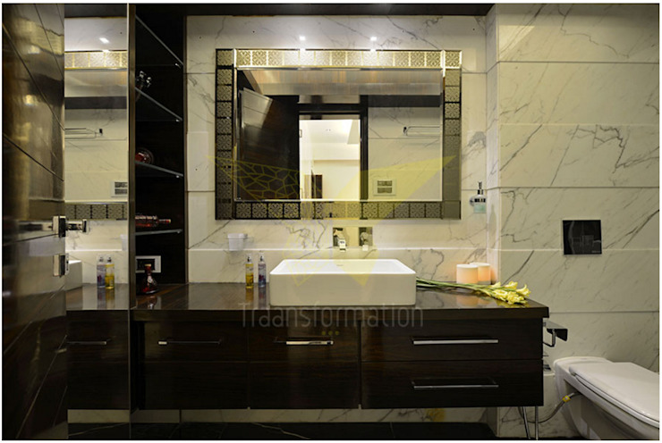 Traansformation Design Studio Modern bathroom Marble