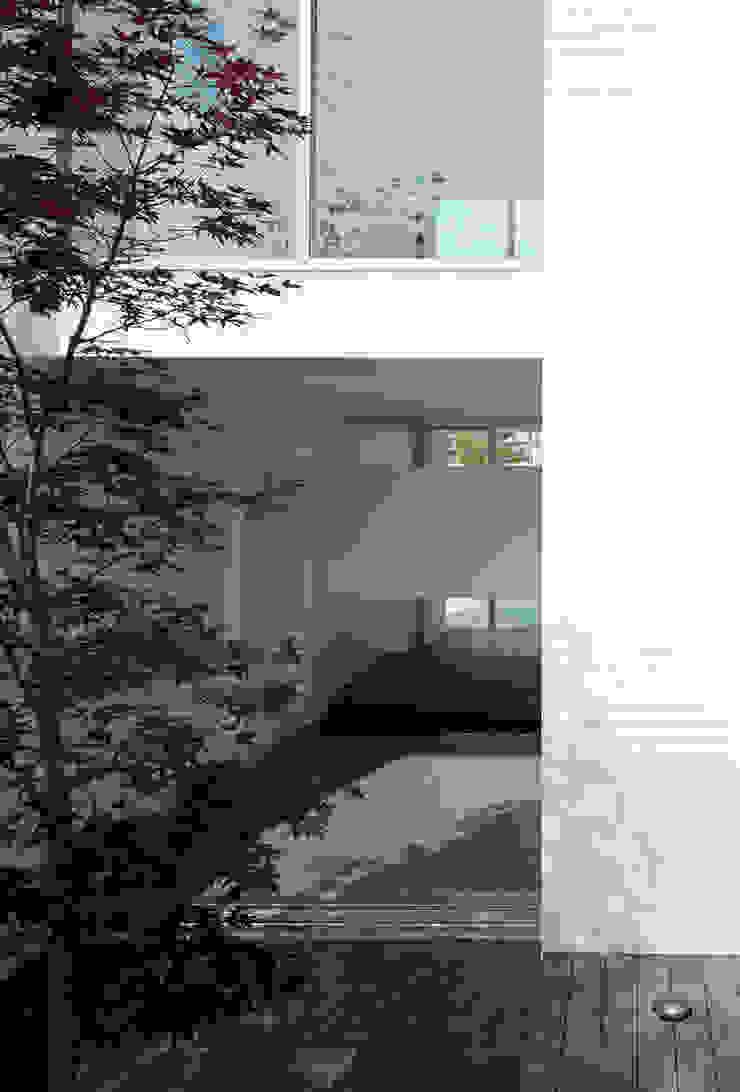 庭から浴室を見る モダンな庭 の 松岡淳建築設計事務所 モダン