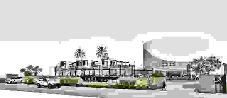 Front View 3 Pusat Perbelanjaan Gaya Industrial Oleh A108 Designstudio Industrial Aluminium/Seng