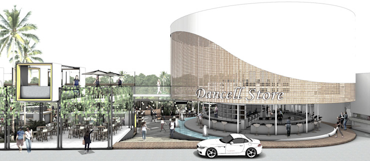 Front Shop Gadget Store Bar & Klub Gaya Industrial Oleh A108 Designstudio Industrial Aluminium/Seng