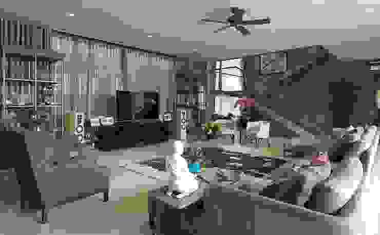 Ruang Keluarga Ruang Keluarga Gaya Eklektik Oleh Bobos Design Eklektik