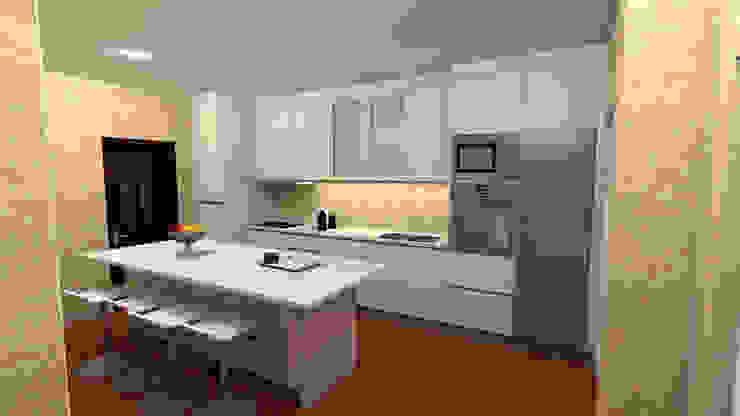 MJF Interiores Ldª KitchenCabinets & shelves Beige