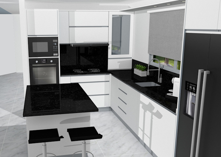 MJF Interiores Ldª KitchenCabinets & shelves White