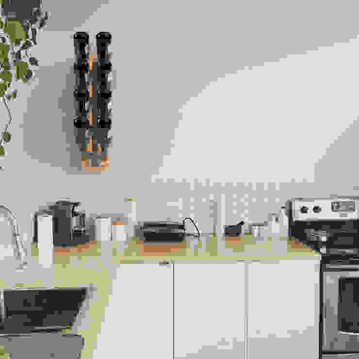 Porta bottiglie a parete Zia Gaia h 60 cm Le zie di Milano CucinaContenitori & Dispense Ferro / Acciaio Bianco