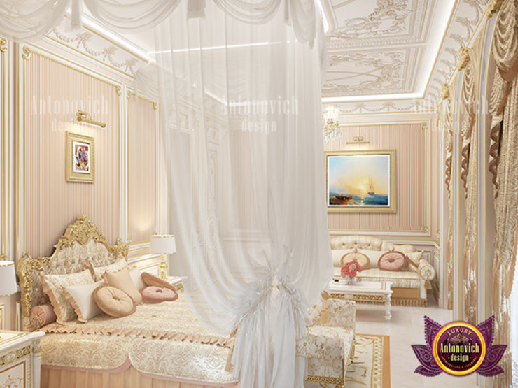 Stunning Bedroom for Royalty by Luxury Antonovich Design