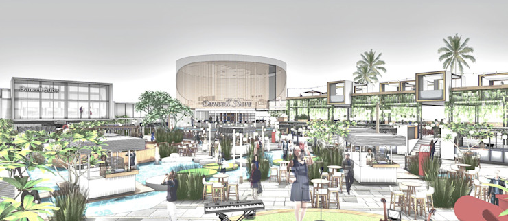 stage Bar & Klub Gaya Industrial Oleh A108 Designstudio Industrial Aluminium/Seng