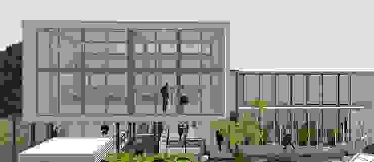 substore view Pusat Perbelanjaan Gaya Industrial Oleh A108 Designstudio Industrial Aluminium/Seng