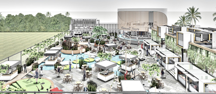 pool + outdoor space Event Venue Gaya Skandinavia Oleh A108 Designstudio Skandinavia Bambu Green