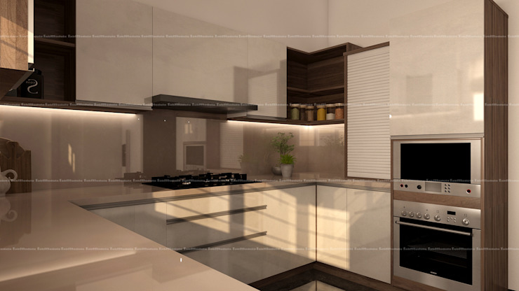 3BHK Interiors Classic style kitchen by Fabmodula Classic