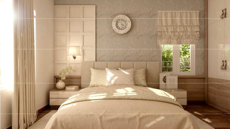 3BHK Interiors Classic style bedroom by Fabmodula Classic