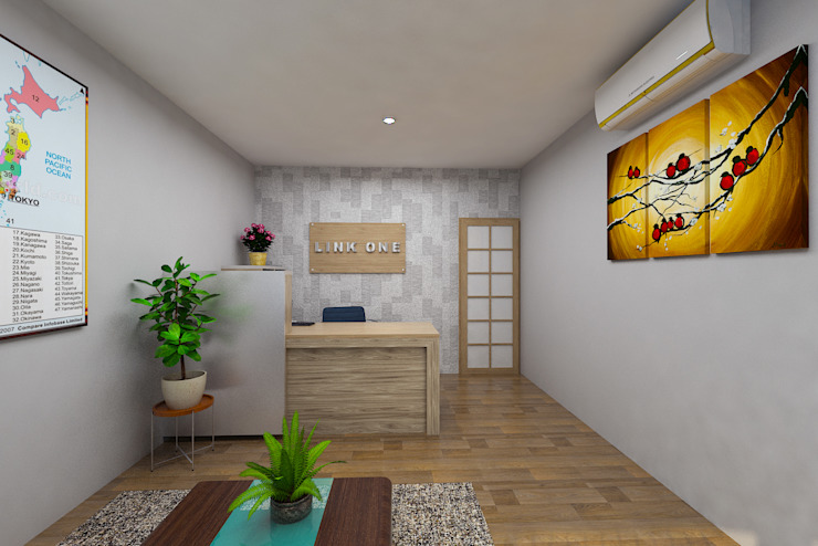 Office Kursus Bahasa Jepang Kantor & Toko Modern Oleh Arsitekpedia Modern