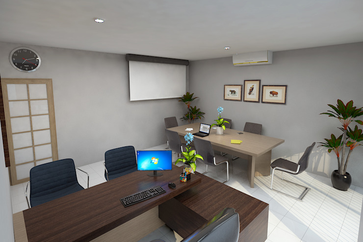 Ruang Meeting Kantor & Toko Modern Oleh Arsitekpedia Modern
