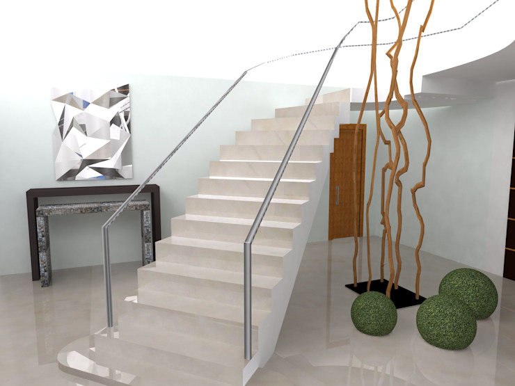 Eclectic style corridor, hallway & stairs by Atelier Ana Leonor Rocha Eclectic