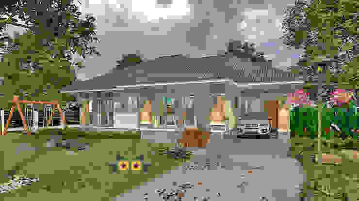 by แบบบ้านออกแบบบ้านเชียงใหม่ Tropical Concrete