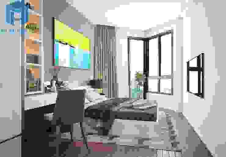 Nội thất phòng ngủ master khá đơn giản Phòng ngủ phong cách hiện đại bởi Công ty TNHH Nội Thất Mạnh Hệ Hiện đại