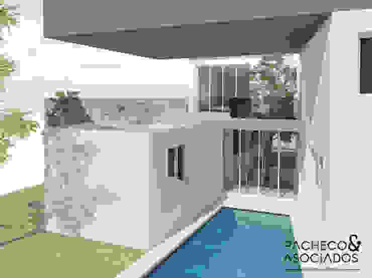 Casas multifamiliares de estilo  por Pacheco & Asociados, Minimalista Concreto