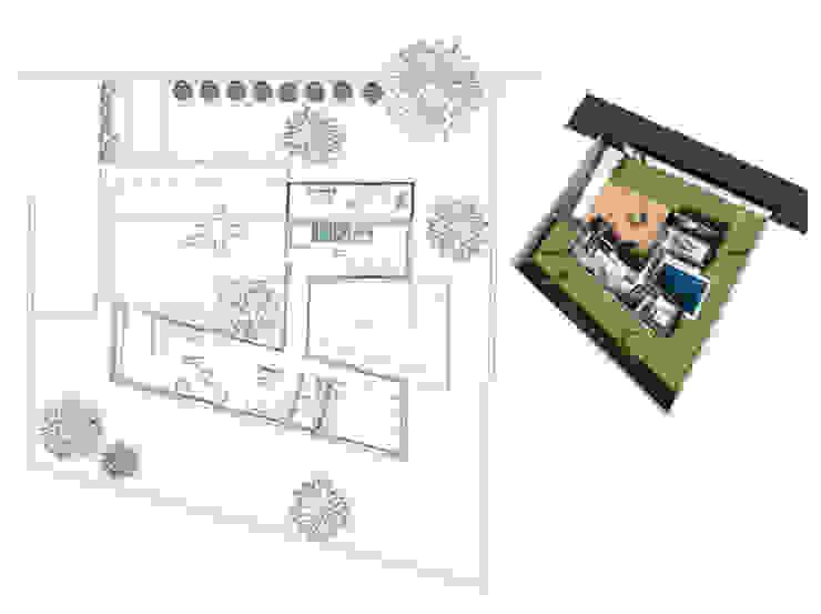 Planos del diseño de Pacheco & Asociados Minimalista