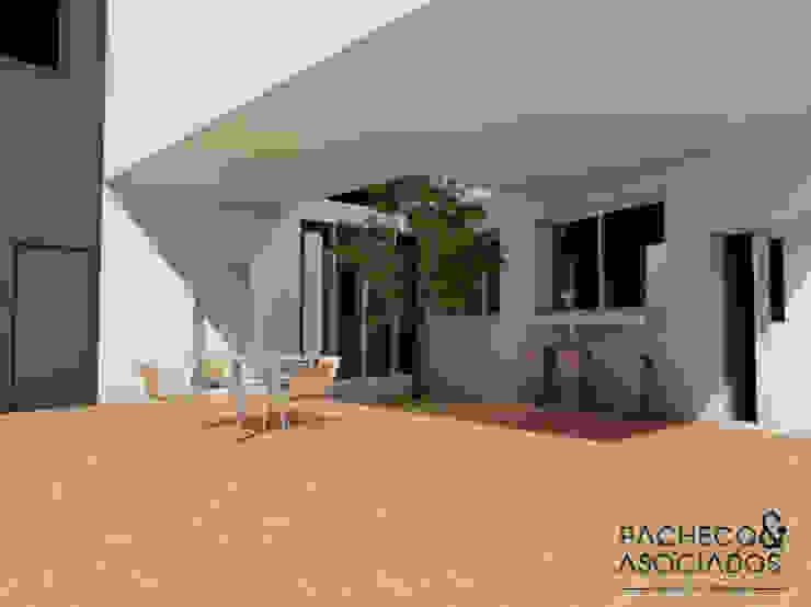 Patio interior Balcones y terrazas de estilo minimalista de Pacheco & Asociados Minimalista