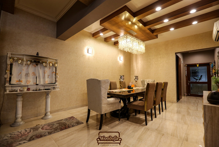 Dining room by Woodofa Lifestyle Pvt. Ltd., Modern