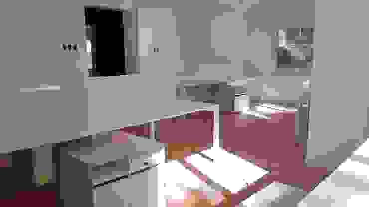 Muebles de oficina por SIMPLEMENTE AMBIENTE de SIMPLEMENTE AMBIENTE mobiliarios hogar y oficinas santiago Moderno Madera Acabado en madera