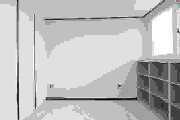 부천시 성은빌라 모던스타일 미디어 룸 by 한 인테리어 디자인 모던