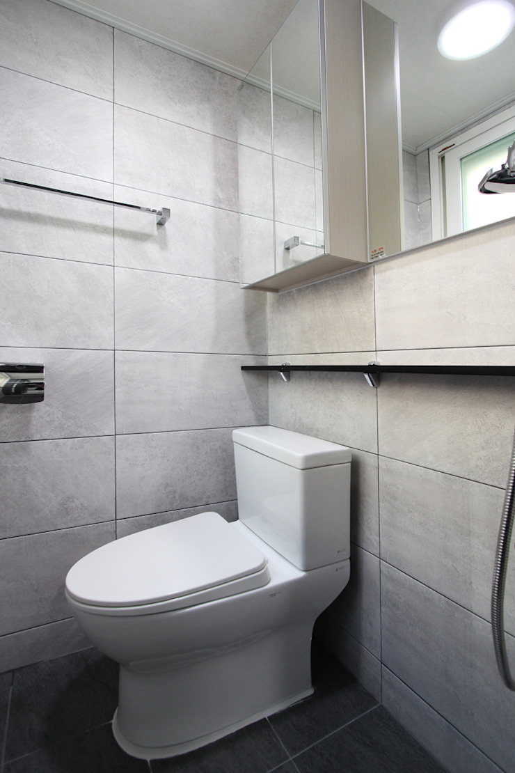 부천시 성은빌라 모던스타일 욕실 by 한 인테리어 디자인 모던