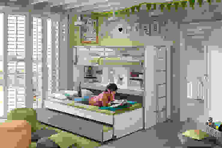Hochbett Bonny grau mit Bettkasten und Schreibtisch ❤ Piratenkiste Konstanz von Piratenkiste Konstanz Klassisch