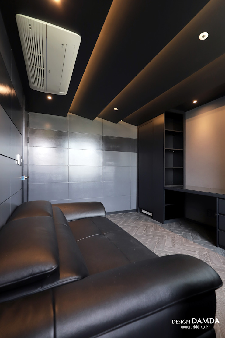 하남시 덕풍동 더샵센트럴뷰 34평 모던스타일 미디어 룸 by 디자인담다 모던