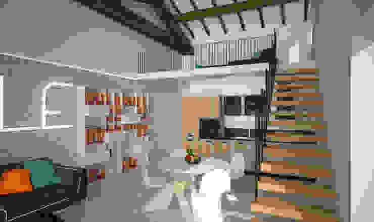 Loft Zarini Soggiorno moderno di B+P architetti Moderno