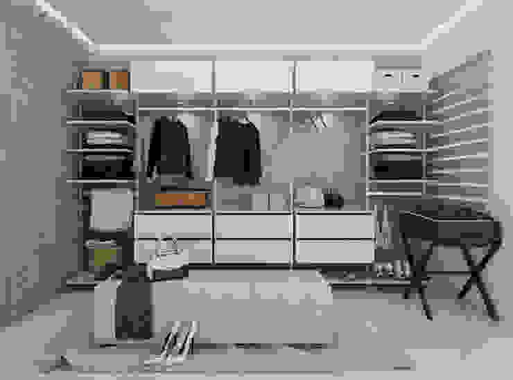 Diseño y decoración de apartamento nuevo Vestidores y placares de estilo moderno de Cindy Castañeda Moderno