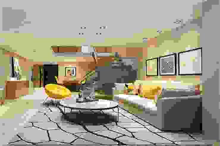 现代客厅設計點子、靈感 & 圖片 根據 Monoceros Interarch Solutions 現代風