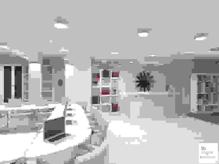 Hall de acceso a Espacio de trabajo compartido de Arquimundo 3g - Diseño de Interiores - Ciudad de Buenos Aires Minimalista