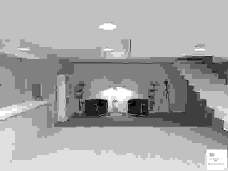 Espacio de trabajo compartido de Arquimundo 3g - Diseño de Interiores - Ciudad de Buenos Aires Minimalista