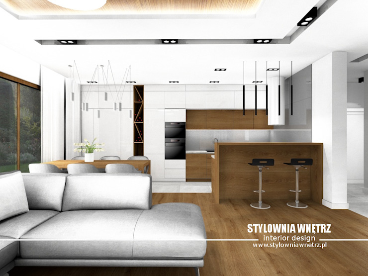 Stylownia Wnętrz Modern style kitchen White