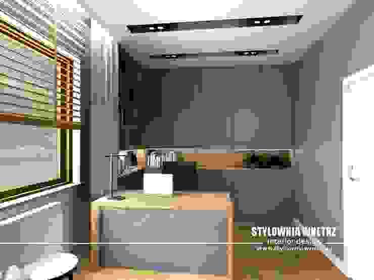 Stylownia Wnętrz Modern style study/office Grey