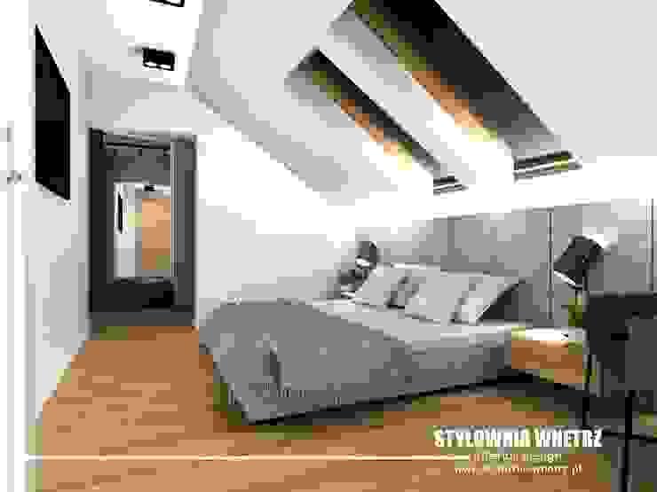 Stylownia Wnętrz Modern style bedroom Wood effect