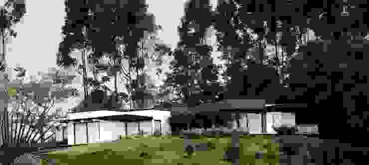 CASA PILOTO. Vivienda unifamiliar campestre. de Andrés Hincapíe Arquitectos A H A Moderno Pizarra