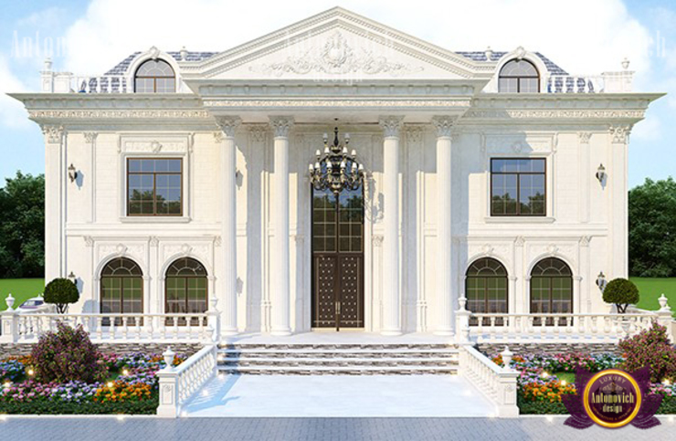 Symmetrical Facade Design by Luxury Antonovich Design