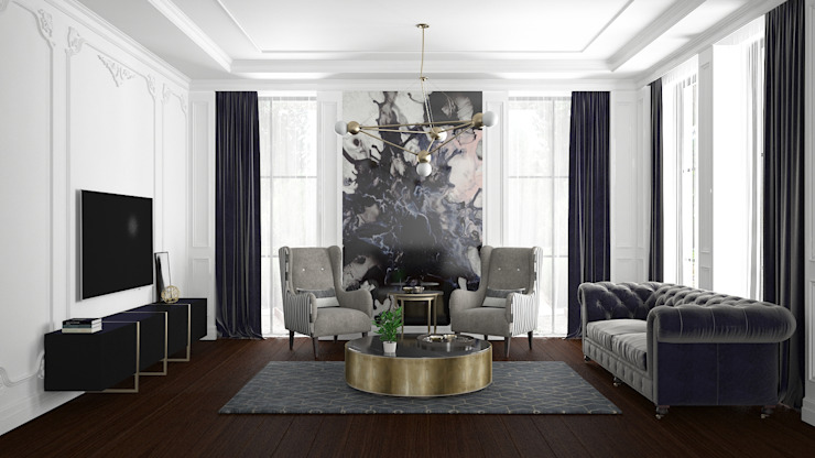 Living room by FA - Fehmi Akpınar İç Mimarlık