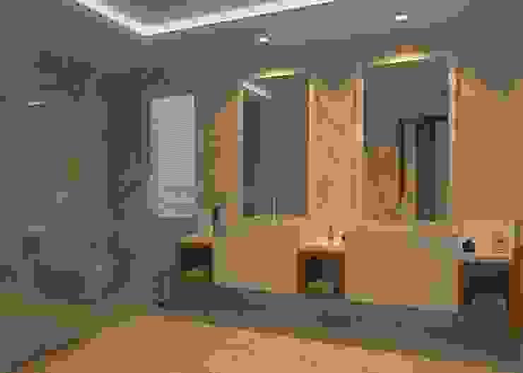 ŞEBNEM MIZRAK  – Bodrum Ev Tasarımı:  tarz Banyo, Modern Ahşap Ahşap rengi