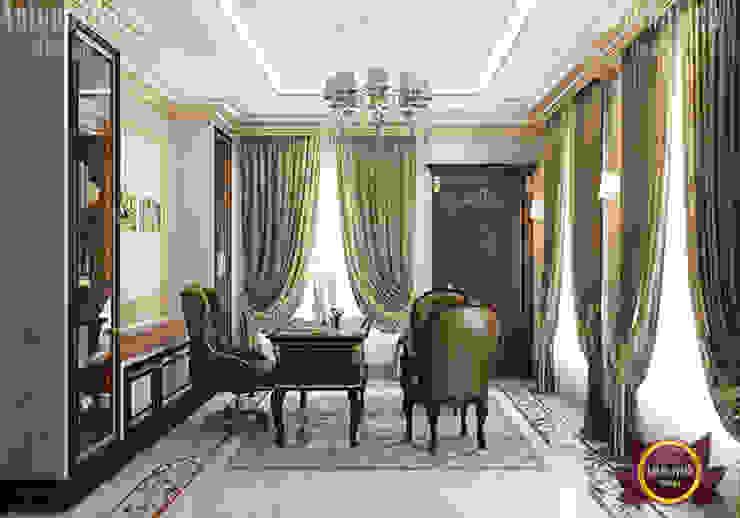 Classic Home Office Interior by Luxury Antonovich Design
