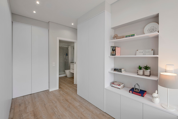 Projekty,  Sypialnia zaprojektowane przez ARQ1to1 - Arquitectura, Interiores e Decoração