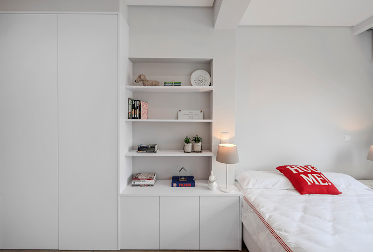 Dormitorios de estilo  por ARQ1to1 - Arquitectura, Interiores e Decoração