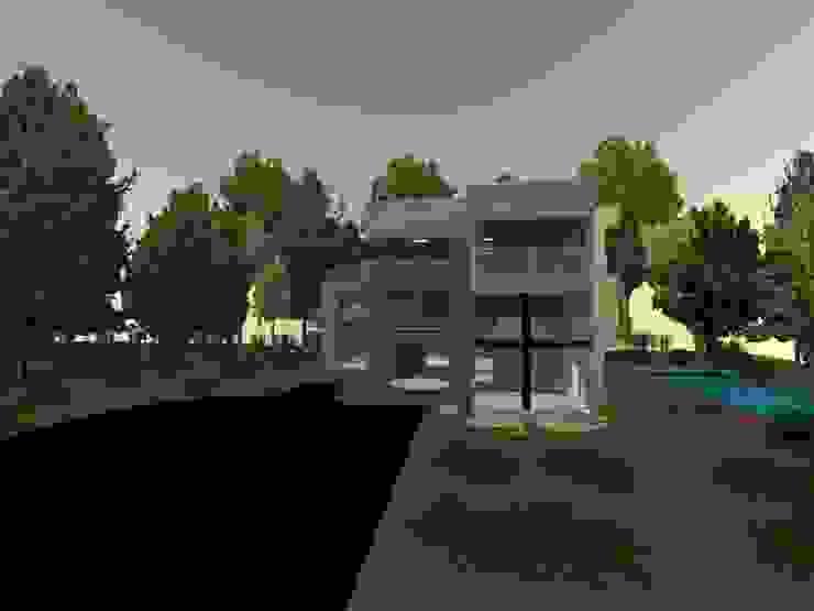 fachada de OBS DISEÑO & CONSTRUCCION. Minimalista Concreto