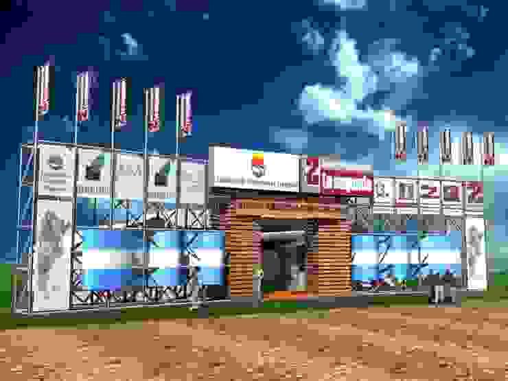 Diseño de stands para eventos de campo Centros de exposiciones de estilo industrial de Faerman Stands y Asoc S.R.L. - Arquitectos - Rosario Industrial