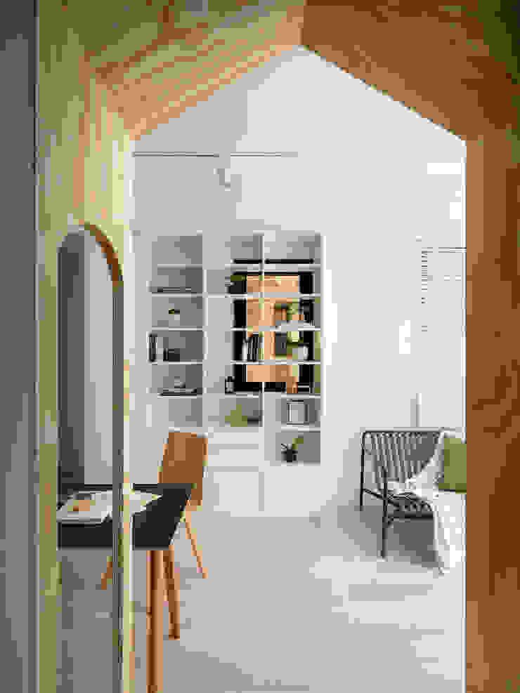 森木木 斯堪的納維亞風格的走廊,走廊和樓梯 根據 寓子設計 北歐風