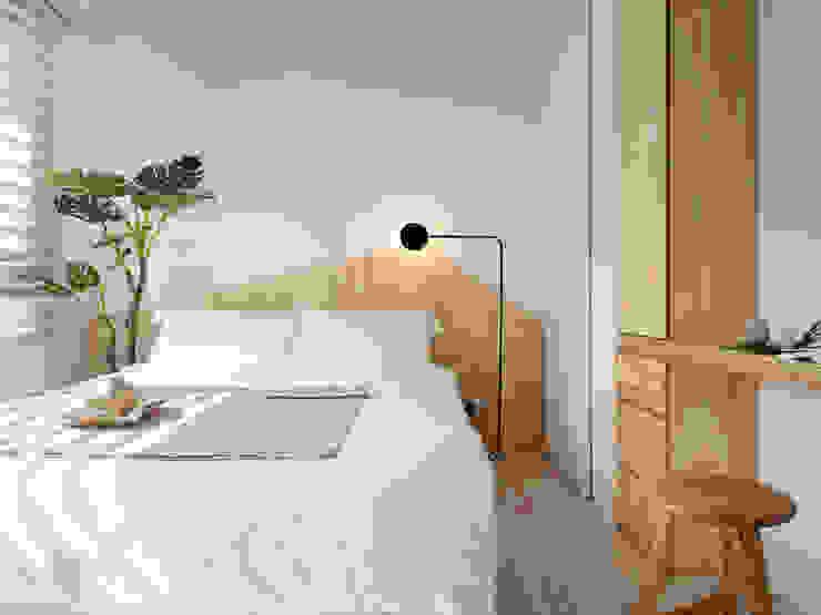 Cuartos de estilo escandinavo de 寓子設計 Escandinavo