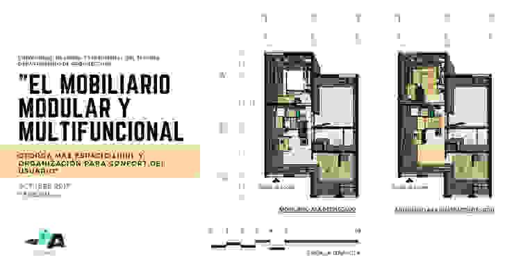 Mobiliario modular y multifuncional para viviendas inferiores a los 50mts2 de Cindy Castañeda Escandinavo