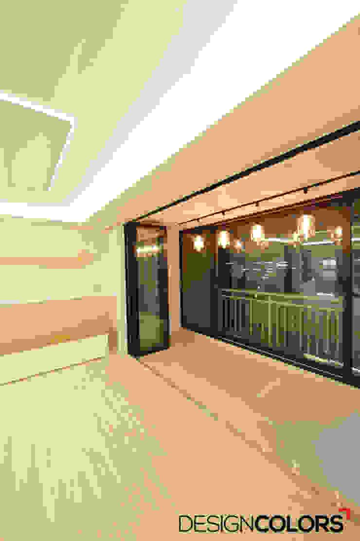 구로구 신도림동 e편한세상 아파트 인테리어 34평 모던스타일 거실 by DESIGNCOLORS 모던