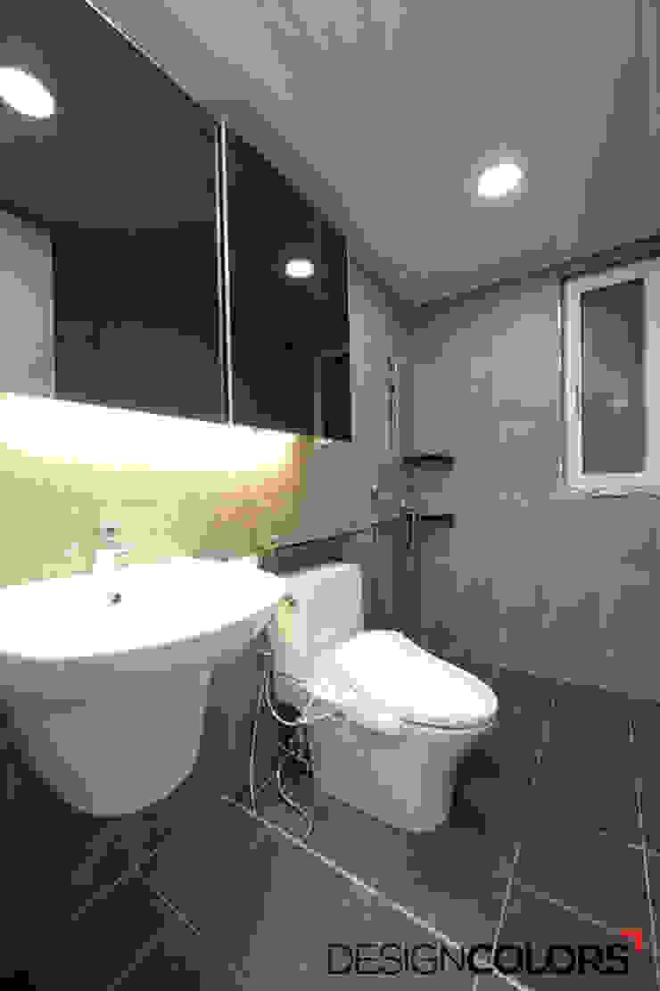 구로구 신도림동 e편한세상 아파트 인테리어 34평 모던스타일 욕실 by DESIGNCOLORS 모던